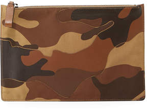 Valentino Men's Leather Patch Camo Clutch
