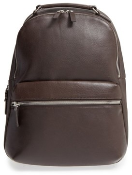 Shinola Men's Runwell Leather Laptop Backpack - Brown