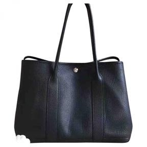 Hermes Garden Party leather tote - BLACK - STYLE