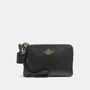 COACH Coach Small Wristlet - LIGHT GOLD/BLACK - STYLE