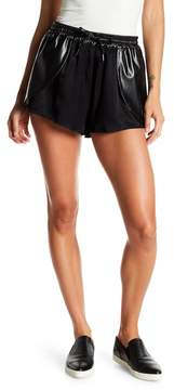 Blank NYC BLANKNYC Draped Faux Leather Shorts