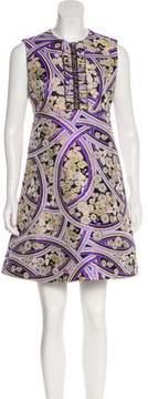 Giamba Sleeveless Brocade Dress