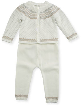 Mayoral Fair Isle Knit Layette Set, Size 1-12 Months