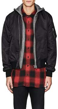R 13 Men's Layered-Look Insulated Bomber Jacket