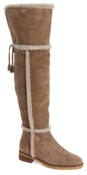 Frye Women's 'Tamara' Genuine Shearling Over The Knee Boot
