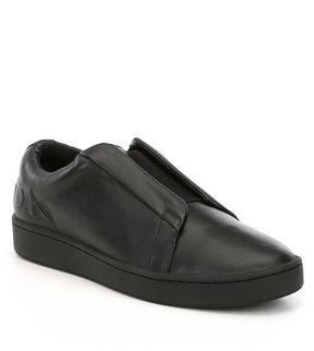 Donna Karan Bazel Leather Slip-On Sneakers