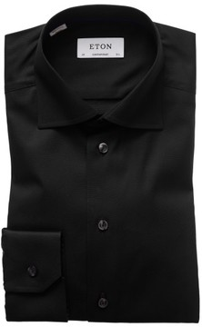Eton Men's Contemporary Fit Solid Dress Shirt