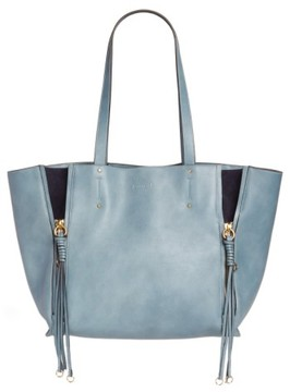 Chloé Medium Milo Calfskin Leather Tote - White