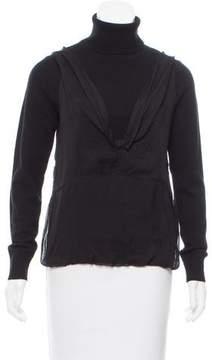 Dries Van Noten Silk-Trimmed Cashmere Sweater