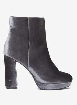Dorothy Perkins Grey 'Anastasia' Velvet Platform Boots