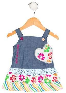 Agatha Ruiz De La Prada Girls' Sleeveless Appliqué Dress w/ Tags
