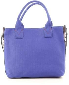 Pinko Women's Blue Fabric Handbag.