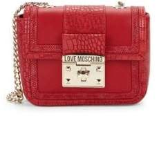 Love Moschino Croco-embossed Crossbody Bag