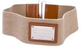 Dolce & Gabbana Elasticized Plaque Belt