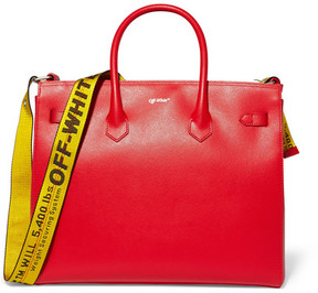 Off-White - Textured-leather Tote