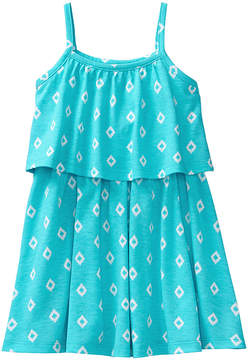 Gymboree Scuba Blue Diamond-Print Flounce Dress - Infant, Toddler & Girls