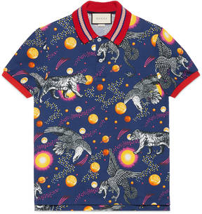 Space Animals print polo