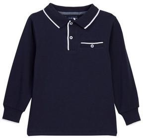 Andy & Evan Long Sleeve Polo Tee (Toddler & Little Boys)