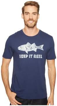 Life is Good Reel Fish Smooth Tee Men's T Shirt