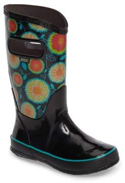 Bogs Toddler Girl's Wildflowers Waterproof Rubber Rain Boot
