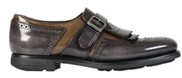 Church's Women's Brown Leather Monk Strap Shoes.