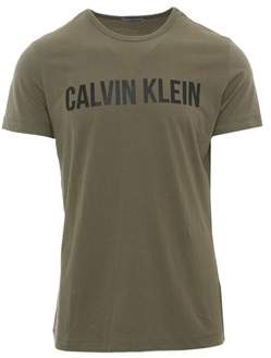 Calvin Klein Jeans Men's Green Cotton T-shirt.