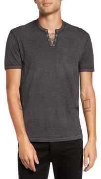 John Varvatos Men's Eyelet Henley T-Shirt