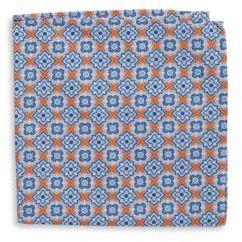 Black & Brown Black Brown Patterned Silk Pocket Square