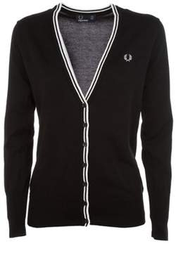 Fred Perry Women's Black Cotton Cardigan.