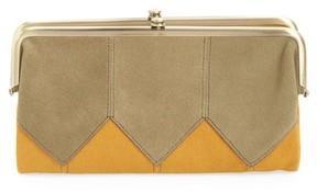 Hobo Women's Lauren Colorblock Calfskin Leather Wallet - Green