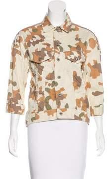 Steven Alan Camouflage Print Collared Jacket