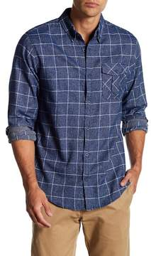 Burnside Windowpane Long Sleeve Regular Fit Shirt