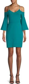 Susana Monaco Women's Cold-Shoulder Bell-Sleeve Dress
