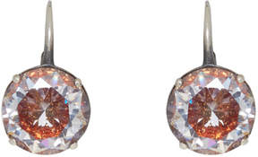Bottega Veneta Silver Zircon Earrings