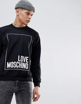Love Moschino Sweatshirt In Black With Box Logo