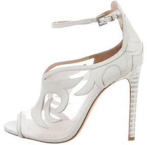 Brian Atwood Peep-Toe Ankle Strap Booties
