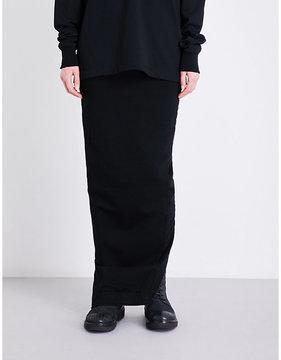 Drkshdw Drawstring-waistband stretch-cotton skirt