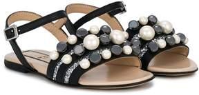 No.21 Kids embellished sandals