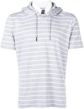 Eleventy striped hoodie T-shirt