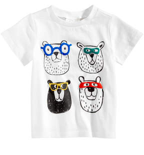 First Impressions Bears-Print Cotton T-Shirt, Baby Boys (0-24 months), Created for Macy's