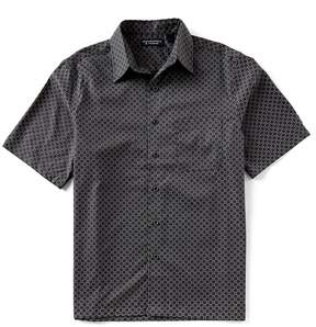 Roundtree & Yorke Big & Tall Short-Sleeve Circle Print Polynosic Camp Shirt