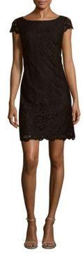 Saks Fifth Avenue BLACK Lace Shift Dress