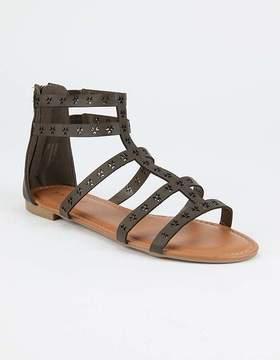 Bamboo Boho Perforated Womens Gladiator Sandals