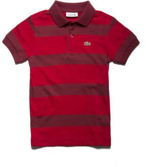 Lacoste Boys' Striped Cotton Jersey Polo