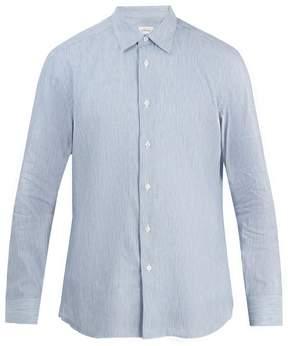 Brioni Striped cotton-linen shirt