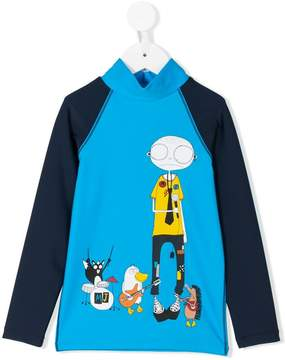 Little Marc Jacobs printed high neck T-shirt
