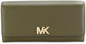 Michael Kors logo plaque continental wallet