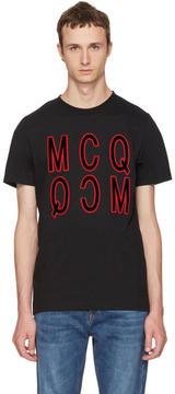 McQ Black Debossed Logo T-Shirt