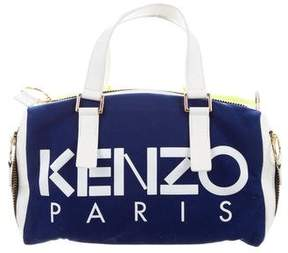 Kenzo Leather-Trimmed Woven Bag