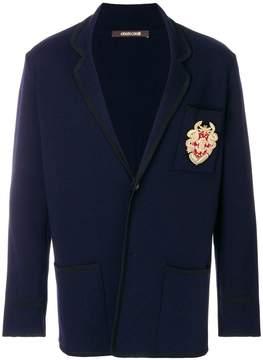 Roberto Cavalli embellished patch blazer